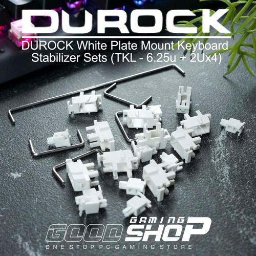 Foto Produk DUROCK White Plate Mount Keyboard Stabilizer Sets / Durock Stabilizer dari GOODGAMINGM2M