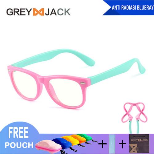 Foto Produk Kacamata Anak/ Kacamata Anti Radiasi/ Kacamata Anti Sinar Biru/S802 - C3-S dari Grey Jack