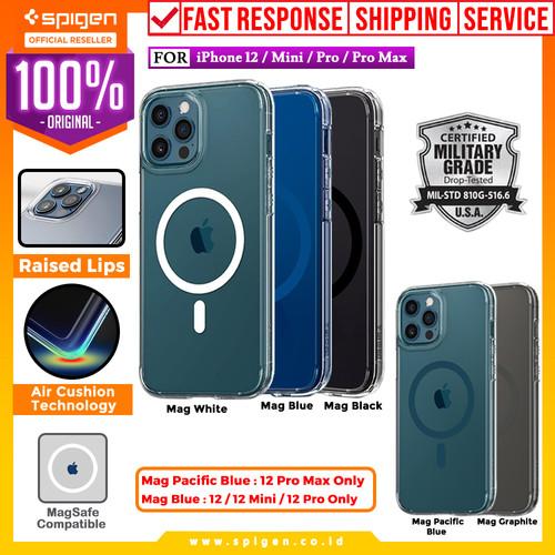 Foto Produk Case iPhone 12 Pro Max/Pro/Mini Spigen Ultra Hybrid Anti Crack Casing - 12 or 12 Pro, Crystal Clear dari Spigen Official