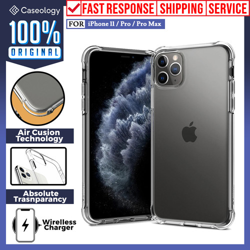 Foto Produk Case iPhone 11 Pro Max / 11 Caseology Solid Flex Crystal Clear Casing - iPhone 11 Pro, Crystal Clear dari Caseology Official Shop