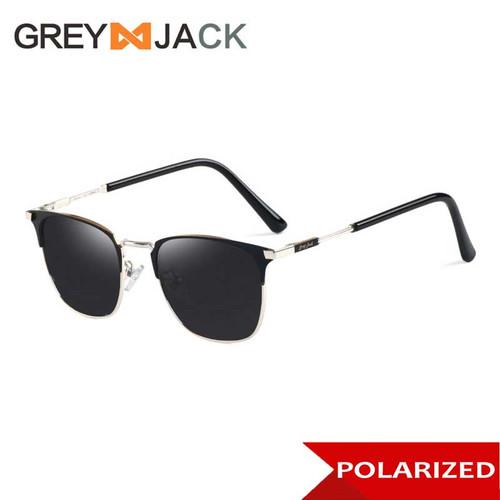 Foto Produk Grey Jack/ Kacamata Hitam Pria dan Wanita / Sunglasses /1610 - C1 blk silver dari Grey Jack