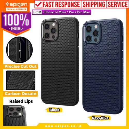 Foto Produk Case iPhone 12 Pro Max / Pro / Mini Spigen Liquid Air Softcase Casing - 12 Mini, Black dari Spigen Official