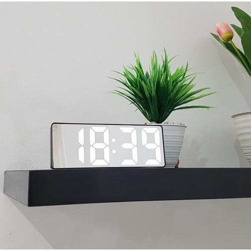 Foto Produk Jam Meja Digital Alarm LED Clock Mirror - Putih dari Souvenia Center
