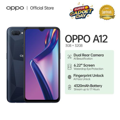 Foto Produk OPPO A12 Smartphone 3GB/32GB (Garansi Resmi) - Abu-abu dari OPPO OFFICIAL STORE