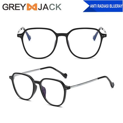 Foto Produk Grey Jack Kacamata anti radiasi blueray TR90 dewasa fashion 2002 - black dari Grey Jack