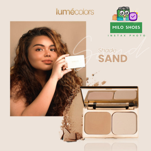 Foto Produk Lumecolors Compact Powder Two Way Cake Pore Blurring Effect with Oil - Sand dari Milo Shoes