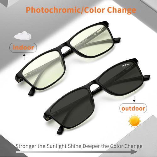 Foto Produk GREY JACK/kacamata anti radiasi blueray+photocromic 2IN1 TR90 3002 - black dari Grey Jack