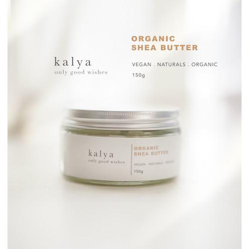 Foto Produk 100% pure organic shea butter/ organik/ vegan/ pelembab alami/ 150gr dari kaylanaturals