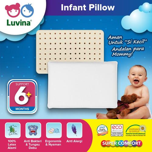 Foto Produk Luvina Bantal Latex Bayi / Baby / Infant Pillow Usia 6Bln - 1,5Thn - Natural Latex dari Luvina Indonesia Sehat