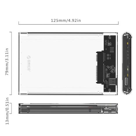 Foto Produk Orico Enclosure 2179C3-G2 HDD Casing Hard Drive 2.5inch Type C dari PojokITcom Pusat IT Comp