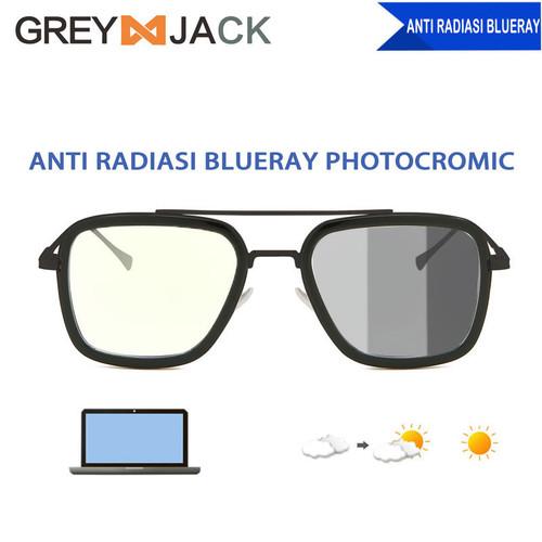 Foto Produk Kacamata pria/GREY JACK/tony stark anti radiasi photocromic 2836 - black dari Grey Jack