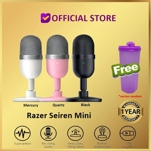 Foto Produk Razer Seiren Mini Ultra Compact Streaming Gaming Microphone Mic Gaming - Quartz dari DUNIA COMPUTER & SERVICE