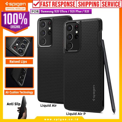 Foto Produk Case Samsung Galaxy S21 Ultra Plus Spigen Liquid Air Softcase Casing - S21 Plus, Black dari Spigen Official