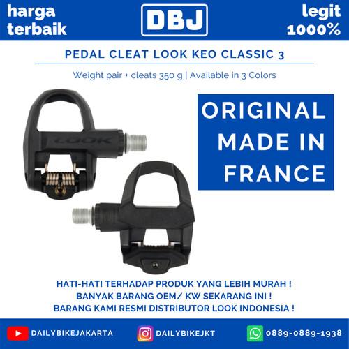 Foto Produk PEDAL CLEAT ROADBIKE LOOK KEO CLASSIC 3 ORIGINAL FRANCE WITH CLEAT - FULLBLACK dari DailyBikeShop
