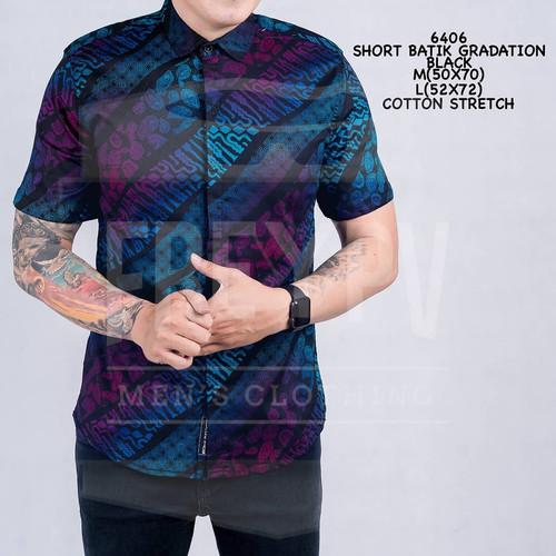 Foto Produk Baju Kemeja Songket Batik Cowok Lengan Pendek Kemeja Formal Pria - Biru, M dari her7.co