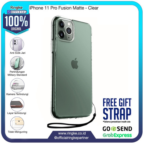 Foto Produk Rearth Ringke iPhone 11 / 11 Pro / 11 Pro Max Fusion Matte - iPhone 11 Pro, Matte Clear dari Official Ringke Partner