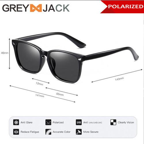 Foto Produk Grey Jack/Kacamata hitam/Sungglases Polarized Fashion unisex SA637 - Black dari Grey Jack