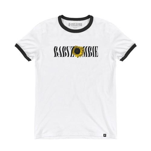Foto Produk BABY ZOMBIE - Sunflower Ringer Tshirt - S/M/L/XL dari Baby Zombie Co.