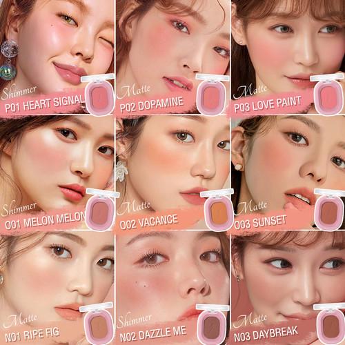 Foto Produk PINKFLASH #OhMyHoney Blushes Matte Shimmer High-Pigmented PFF01 - P02 Dopamine dari beauty entity