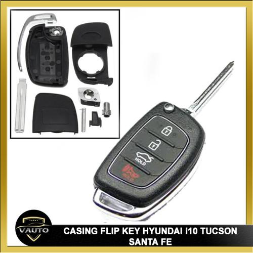 Foto Produk Casing Kunci Lipat Flip Key Hyundai i10 Tuscon Santa Fe dari vauto