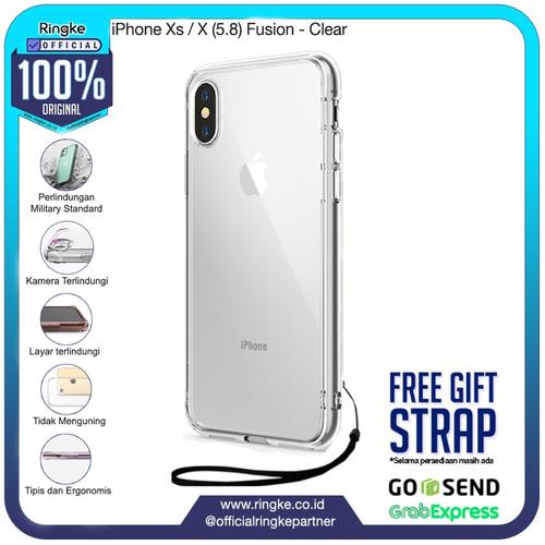Foto Produk Ringke iPhone Xs / Xs Max / Xr Fusion Anti Crack Anti Drop Original - Xs-X-Clear dari Official Ringke Partner