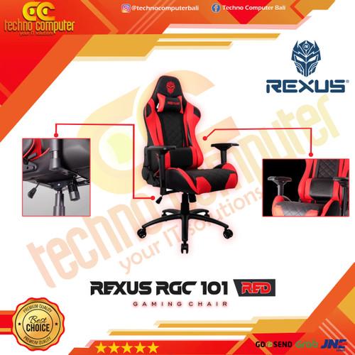 Foto Produk Kursi Gaming REXUS RGC-101 Red Black dari Techno Computer Bali