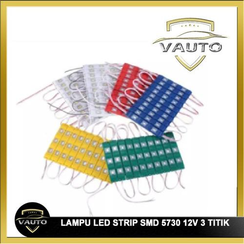 Foto Produk Lampu LED Strip Modul SMD 5730 3 Titik Mata 12V - Biru dari vauto