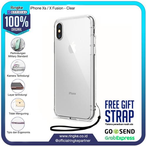 Foto Produk Rearth Ringke iPhone Xs / X Fusion Anti Crack Anti Drop Ori - Clear dari Official Ringke Partner