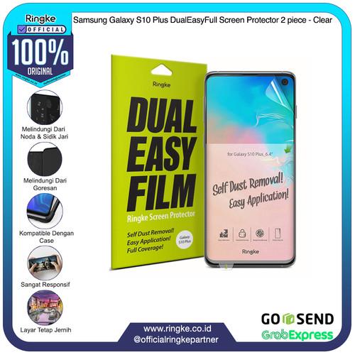 Foto Produk Ringke Samsung Galaxy S10 / S10e / S10+ ScreenProtector Dualeasy 2pcs - Galaxy S10 Plus, Clear dari Official Ringke Partner