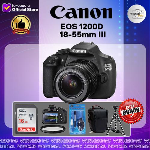 Foto Produk Kamera DSLR Canon EOS 1200D + Lensa 18-55mm III dari Winner Pro