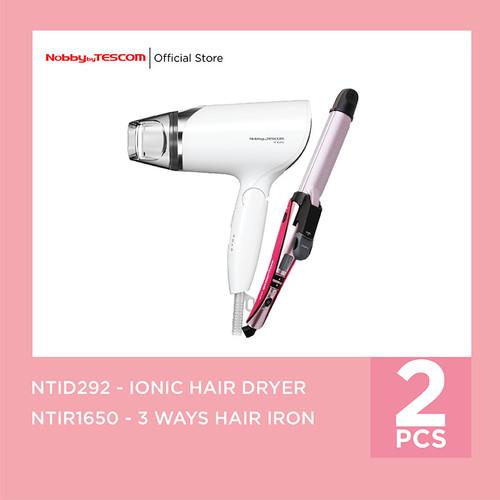 Foto Produk Bundling Tescom Ion Hairdryer NTID292 - Tescom 3ways HairIron NTIR1650 dari TESCOM INDONESIA