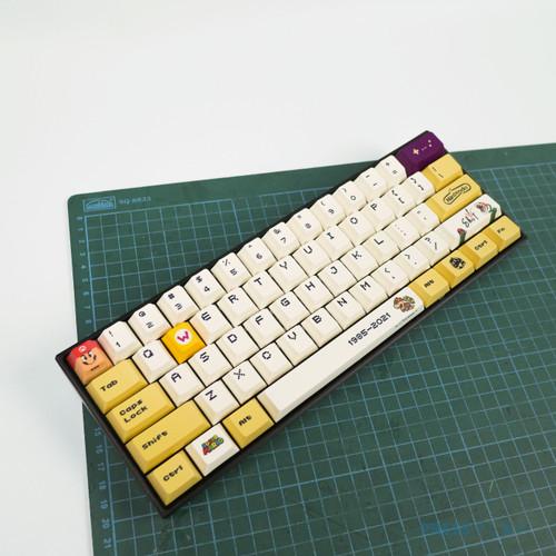 Foto Produk Mario PBT Dye Sub Keycaps Full Size 108 Keys - Wario (Kuning) dari Press Play