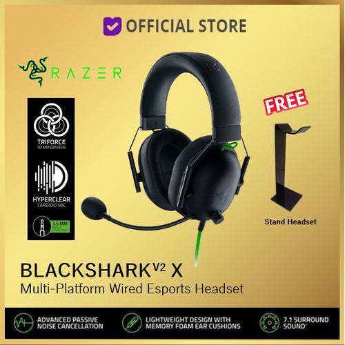 Foto Produk Razer BlackShark V2 X 7.1 Surround Sound Gaming Headset Black Shark - Headset Only dari DUNIA COMPUTER & SERVICE