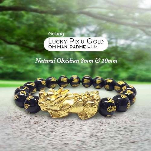 Foto Produk Gelang Lucky Pixiu Gold Natural Obsidian Stone (GCS35) dari ViriyaShop