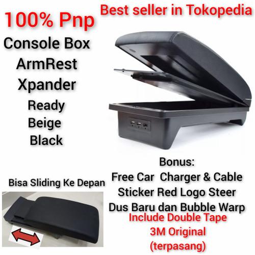 Foto Produk mitsubishi Xpander arm rest tangan sandaran console box armrest kulit - Beige dari Casing kunci