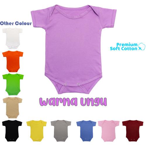 Foto Produk Baju Bayi Jumper Bodysuits Katun polos jumpsuit baby newborn - Ungu, S dari abaqizam