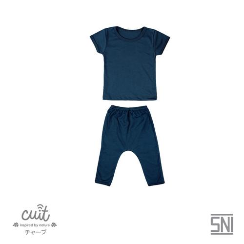 Foto Produk CUIT Setelan Mix Tangan Pendek Celana Panjang BLOCK COLOR - BLUE, S dari Cuit Baby Wear