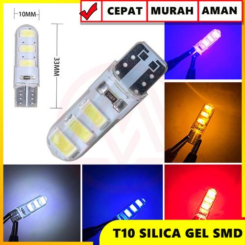 Foto Produk lampu led T10 gel jelly universal panjang - Kuning dari Modifikasi Market