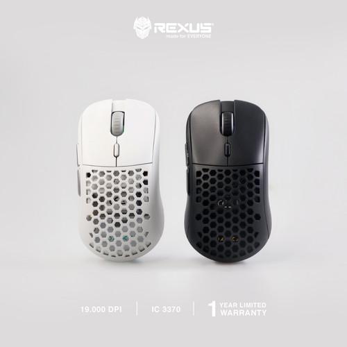 Foto Produk Rexus PRO Mouse Wireless Gaming Daxa Air II - Hitam, Case Merah dari Rexus Official Store