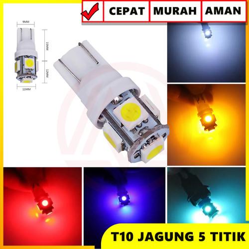 Foto Produk LED T10 JAGUNG LAMPU LED SENJA KOTA SEIN SIGN 5 TITIK MATA LED - Kuning dari Modifikasi Market