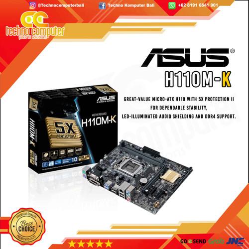 Foto Produk Motherboard ASUS H110M-K - LGA 1151 DDR4 dari Techno Computer Bali