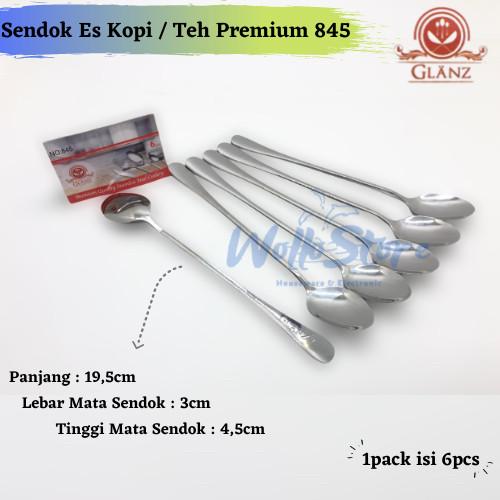 Foto Produk Sendok Es Kopi / Teh Premium Glanz 845 (6Pcs) Sendok Panjang 19,5cm dari WolloStore