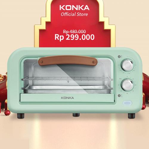 Foto Produk KONKA Oven Listrik Low Watt Electric Open Pemanggang Kue 12L 800 Watt dari Konka Store