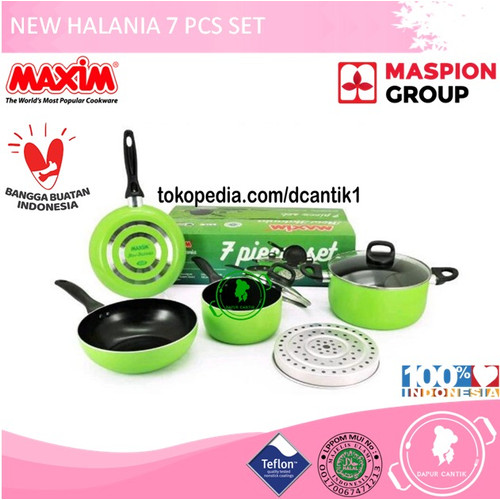 Foto Produk PANCI SET / NEW HALANIA 7 PCS SET MAXIM / MASPION dari DAPUR CANTIK ON-LINE