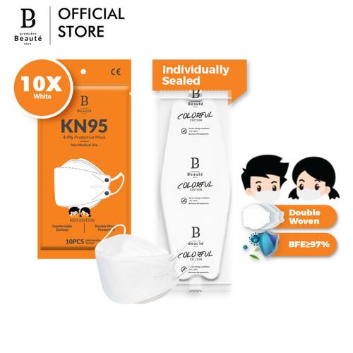 Foto Produk Masker Anak KF94 EVO Premiere Beaute 3D Banyak Warna 10PCS - Putih dari Premiere Beaute Official