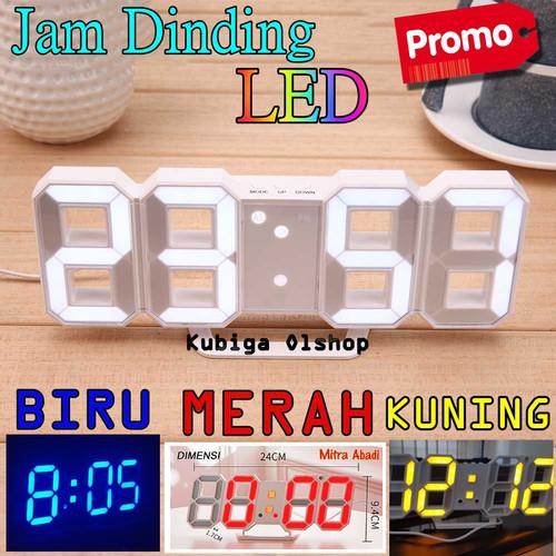 Foto Produk Jam Meja LED Moseko Jam Dinding Digital Clock Termurah - Putih dari HIKARI Market