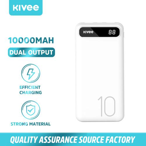 Foto Produk KIVEE 10000mAh power bank cepat dengan indikator LED - Putih dari Kivee Official Store