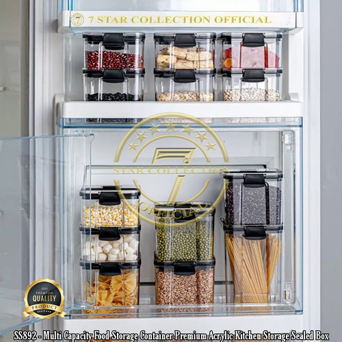 Foto Produk SS892 - Multi Capacity Food Storage Container Premium Acrylic 700ml - 700ml dari 7star_collection_official