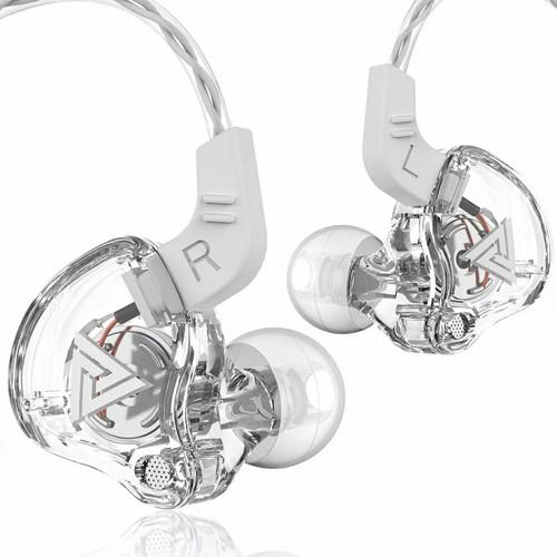 Foto Produk QKZ AK6 with Mic In Ear Earphone Copper Driver HiFi Sport Headphones - Clear dari QKZ Official Store