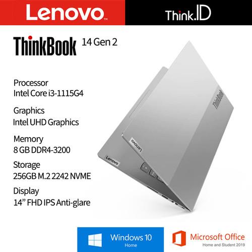 """Foto Produk LENOVO ThinkBook 14 ITL G2 i3-1115G4 8GB 256GB FPR 14""""IPS Win10 OHS dari Think_Id"""